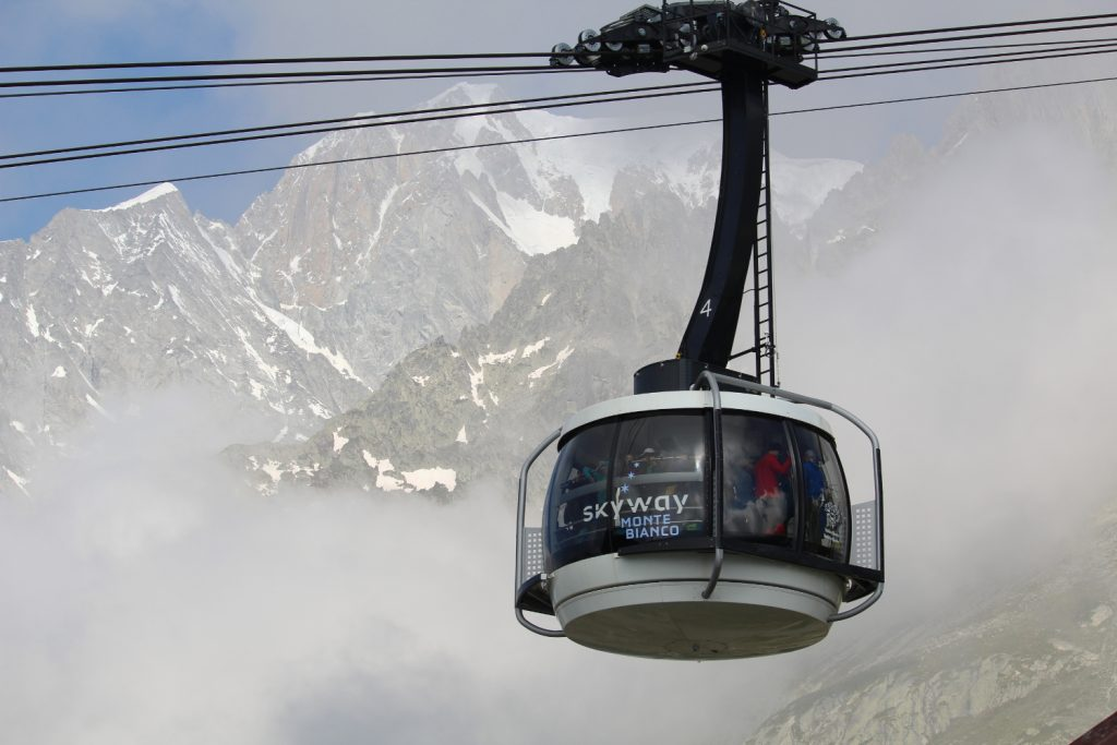 cabina skyway Monte Bianco